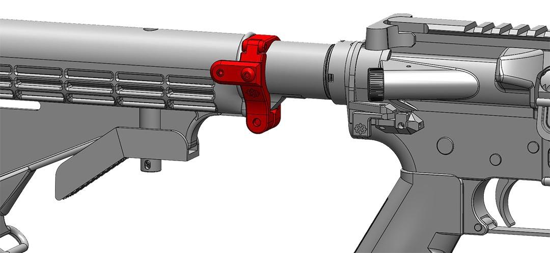 Gun T Shirts >> Cross Armory   STOCK LOCK   CA Legal AR-15 Parts   AR Fixed Stock