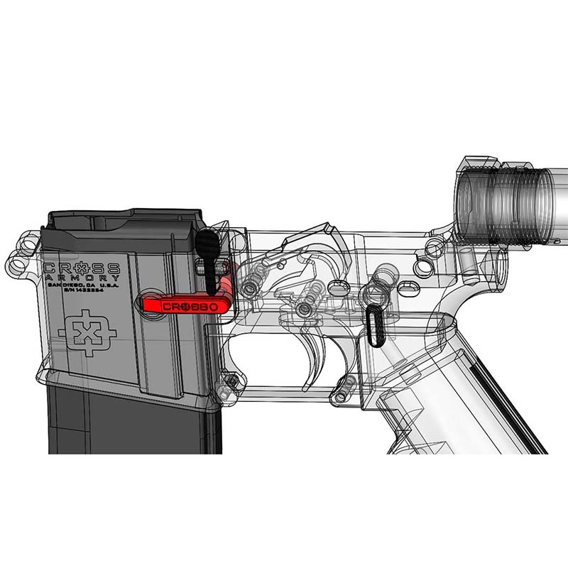 ar fixed mag bf 10 side loader kit for ar 15 cross armory